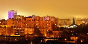 Quartier de Bellevue le soir